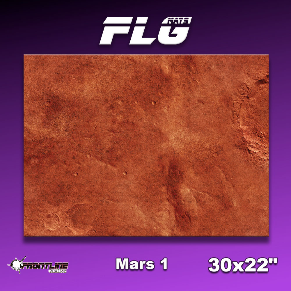 "Frontline-Gaming FLG Mats: Mars 30"" x 22"""