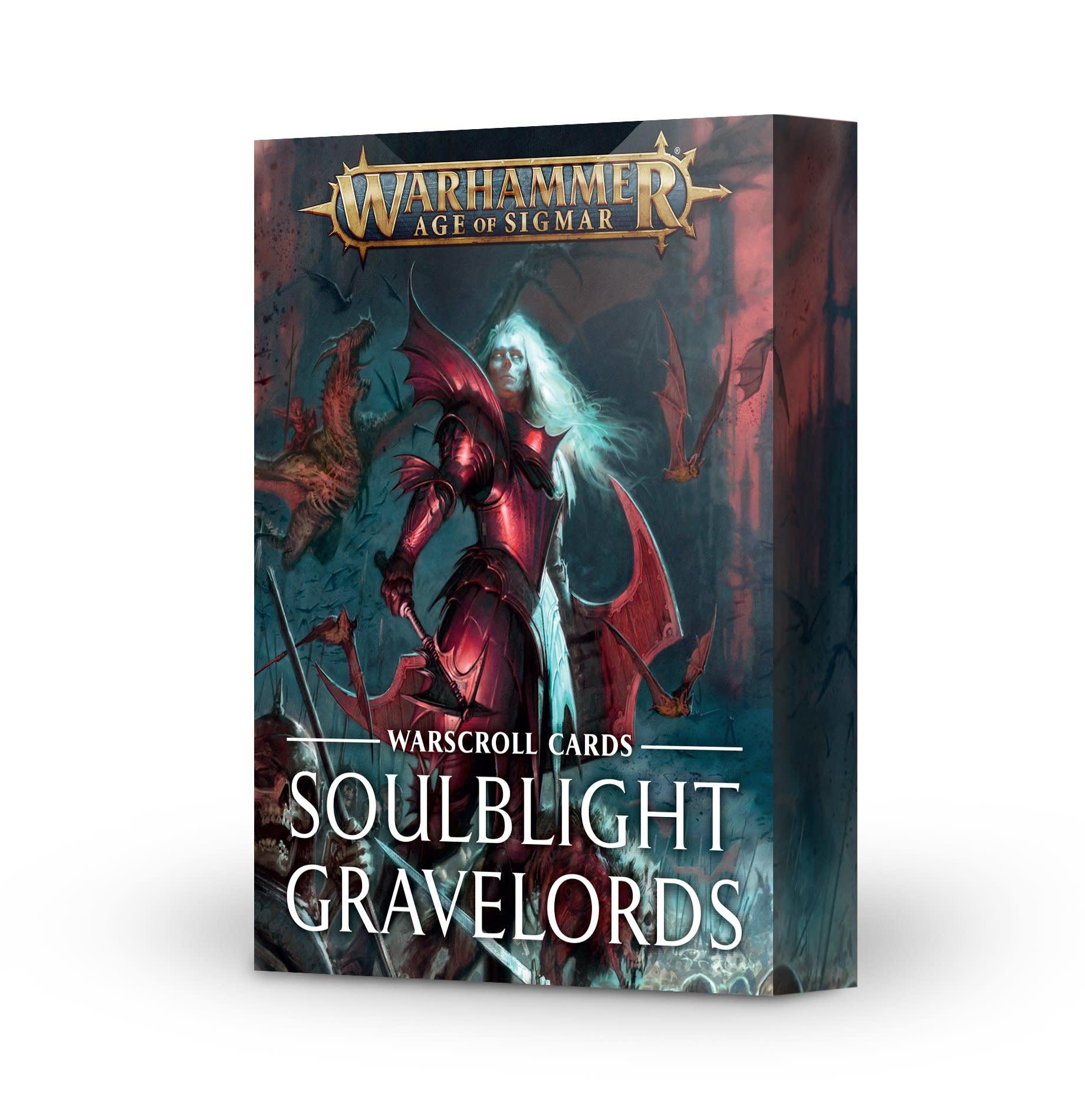 Games-Workshop Soulblight Gravelords Warscroll Cards