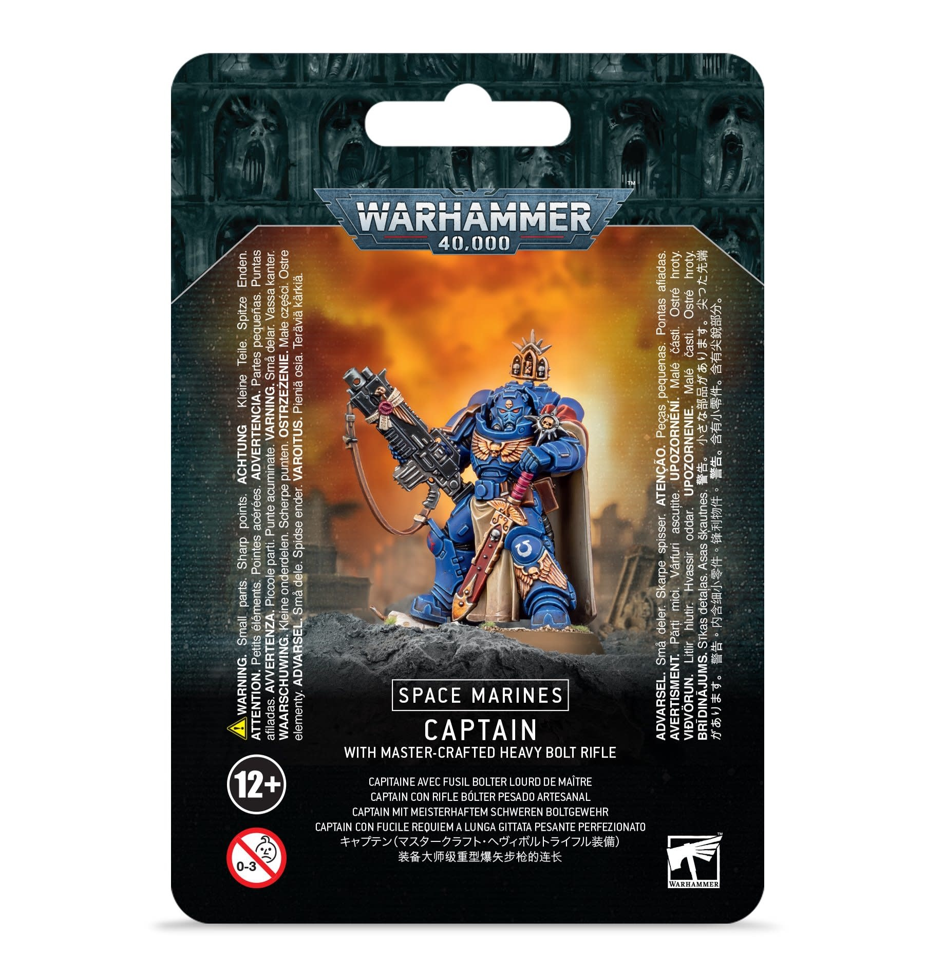 Games-Workshop Space Marine Captain with Master Crafted Bolt Rifle