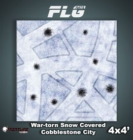 Frontline Gaming FLG Mats: War-torn Snow Covered Cobblestone City 1 4x4'