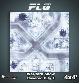 Frontline-Gaming FLG Mats: War-torn Snow Covered City 1 4x4'