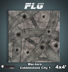 Frontline-Gaming FLG Mats: War-torn Cobblestone City 1 4x4'