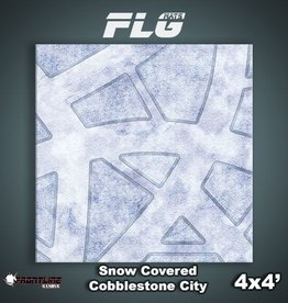 Frontline-Gaming FLG Mats: Snow Covered Cobblestone City 1 4x4'