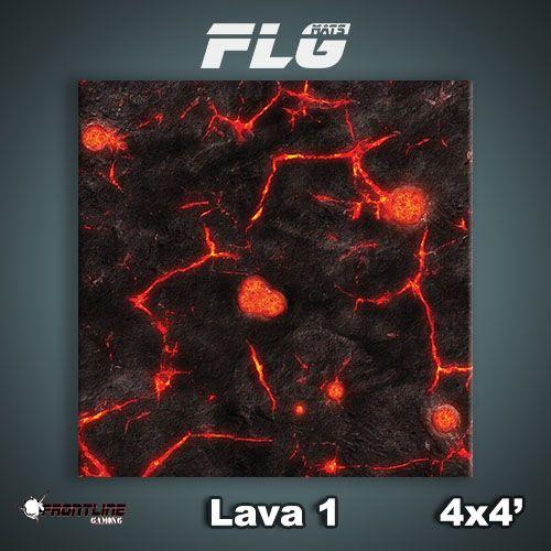 Frontline-Gaming FLG Mats: Lava 1 4x4'