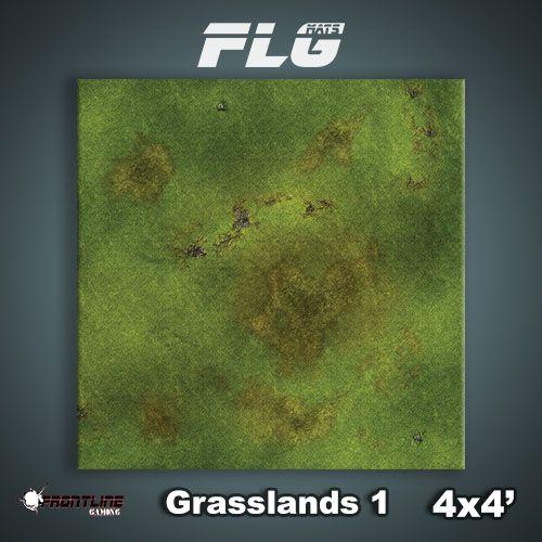 Frontline Gaming FLG Mats: Grasslands 1 4x4'