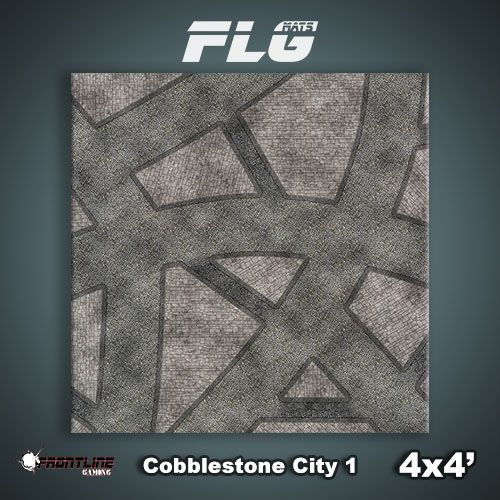Frontline-Gaming FLG Mats: Cobblestone City 1 4x4'