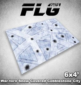 Frontline-Gaming FLG Mats: War-torn Snow Covered Cobblestone City 1 6x4