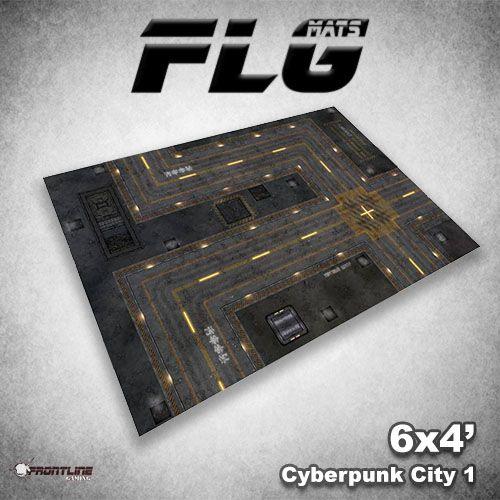 Frontline Gaming FLG Mats: Cyberpunk City 1 6x4
