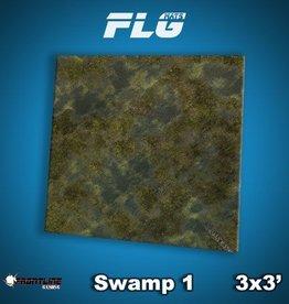Frontline-Gaming FLG Mats: Swamp 1 3x3'