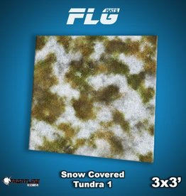 Frontline-Gaming FLG Mats: Snow Covered Tundra 1 3x3'