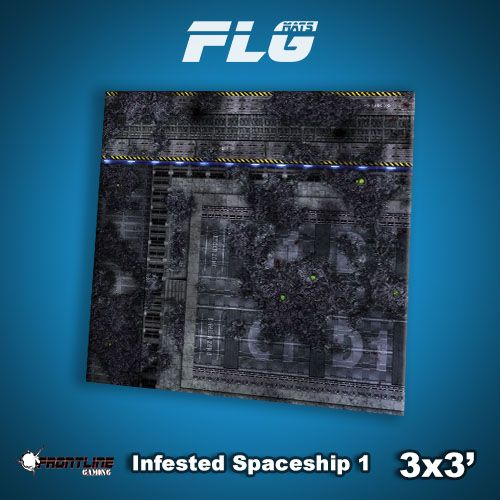 Frontline-Gaming FLG Mats: Infested Spaceship 1 3x3'