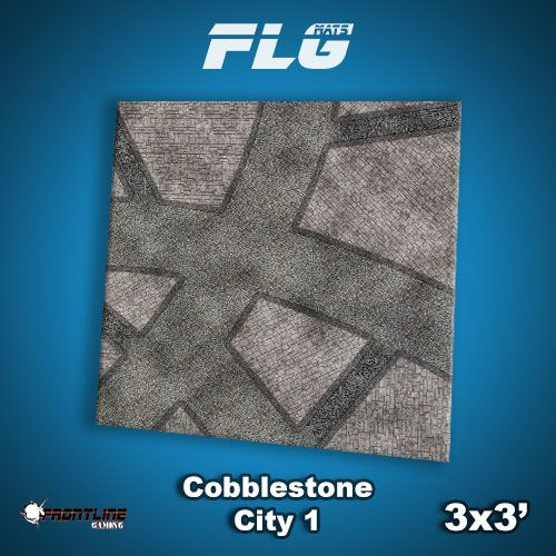 Frontline-Gaming FLG Mats: Cobblestone City 1 3x3'