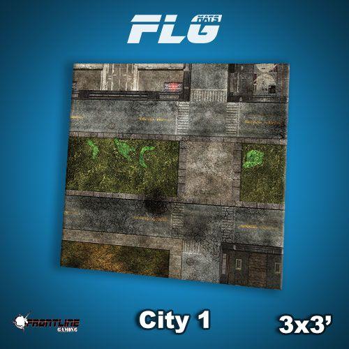 Frontline-Gaming FLG Mats: City 1 3x3'