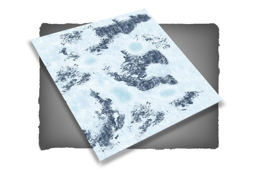 Frontline-Gaming FLG Mats: Snow 1 4x4'