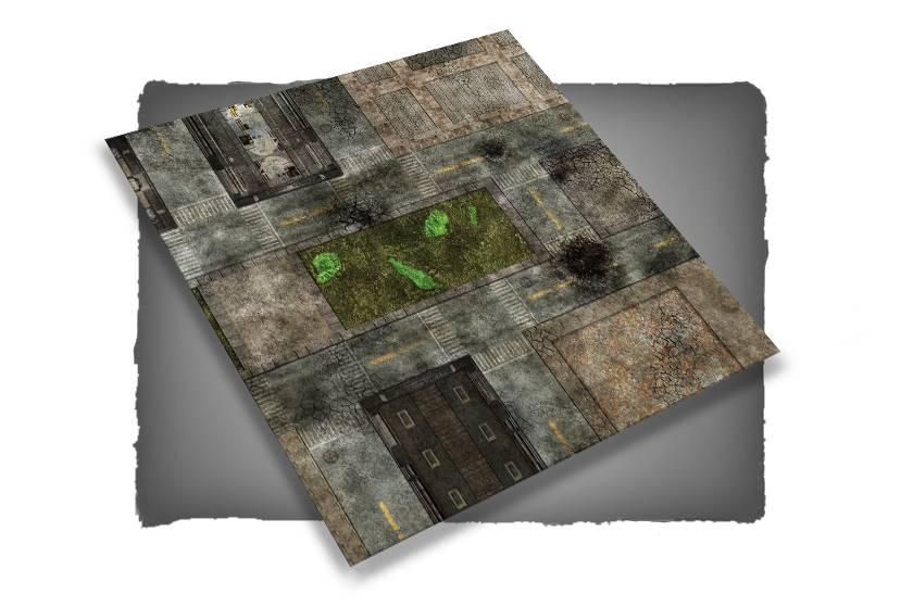 Frontline-Gaming FLG Mats: City 1 4x4'