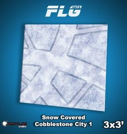 Frontline Gaming FLG Mats: Snow Covered Cobblestone City 1 3x3'