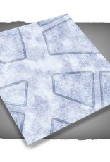 Frontline-Gaming FLG Mats: Snow Covered Cobblestone City 1 3x3'