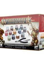 Games-Workshop Warhammer Age of Sigmar Paints + Tools Set