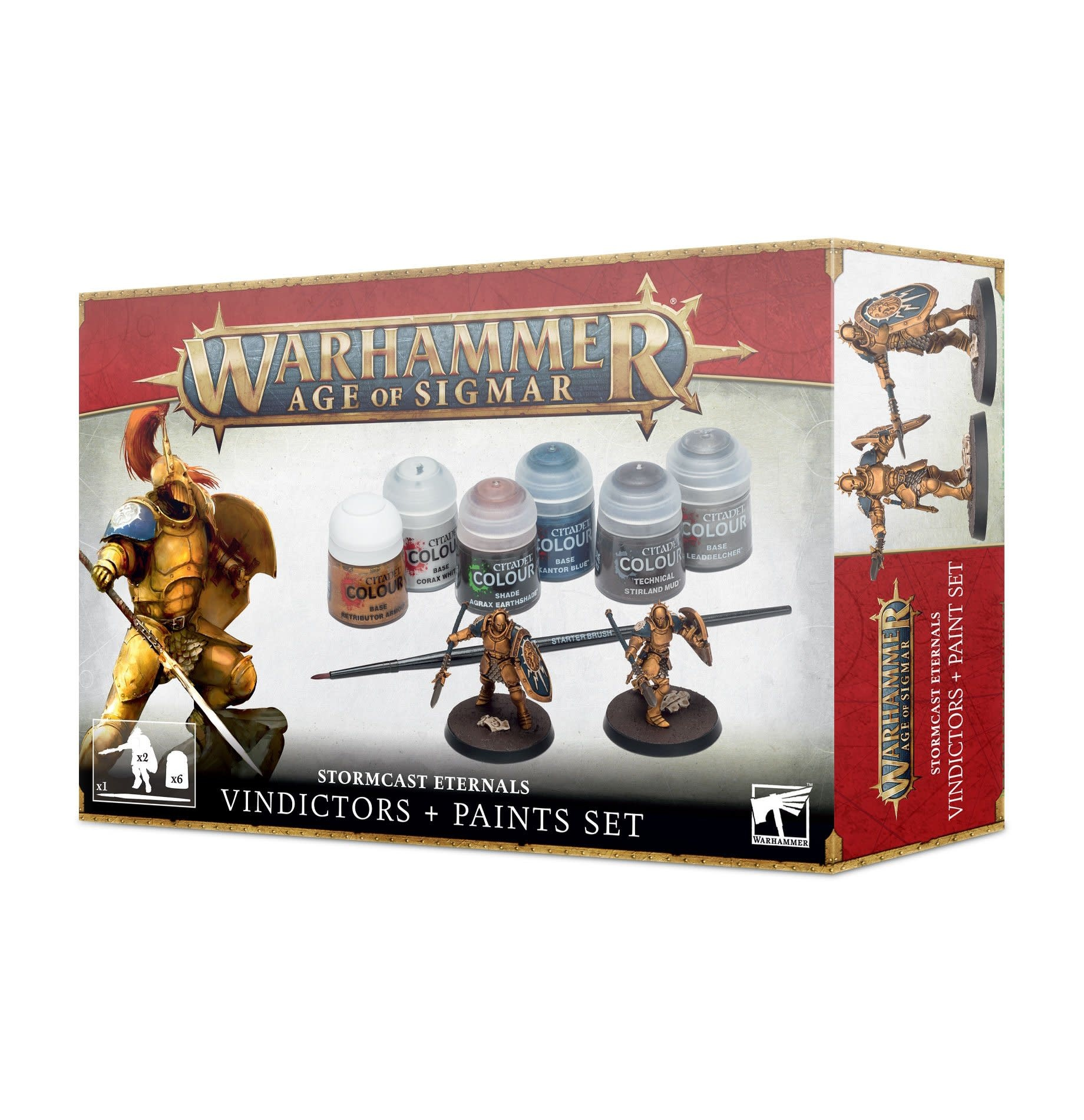 Games-Workshop Stormcast Eternals Vindictor + Paint Set