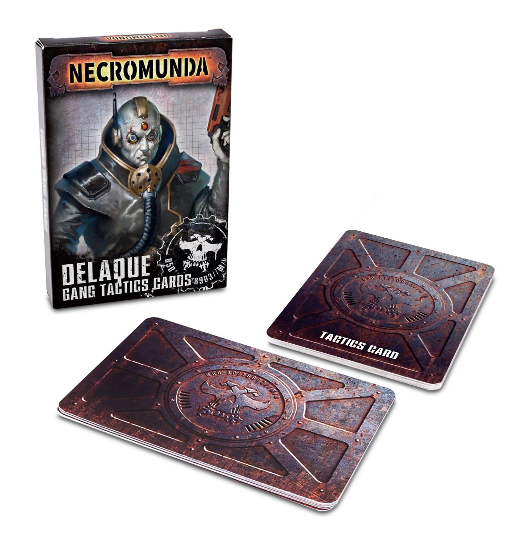 Games-Workshop Necromunda: Delaque Gang Tactics Cards