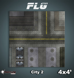Frontline-Gaming FLG Mats: City 2 4x4'