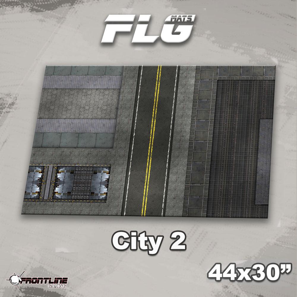"Frontline-Gaming FLG Mats: City 2 44"" x 30"""