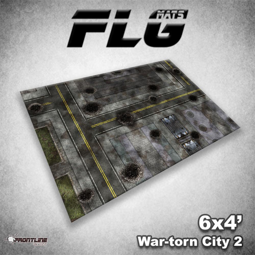 Frontline-Gaming FLG Mats: War-torn City 2 6x4'