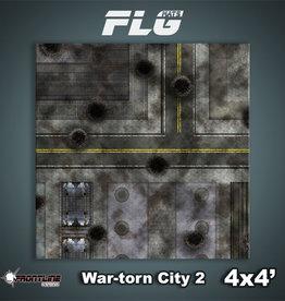 Frontline-Gaming FLG Mats: War-torn City 2 4x4'