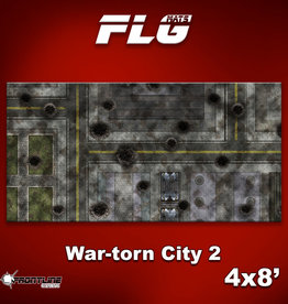 Frontline-Gaming FLG Mats: War-torn City 2 4x8'
