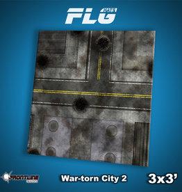 Frontline-Gaming FLG Mats: War-torn City 2 3x3'