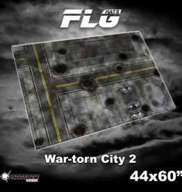 "Frontline-Gaming FLG Mats: War-torn City 2 44"" x 60"""