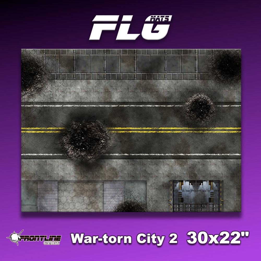 "Frontline-Gaming FLG Mats: War-torn City 2 30"" x 22"""