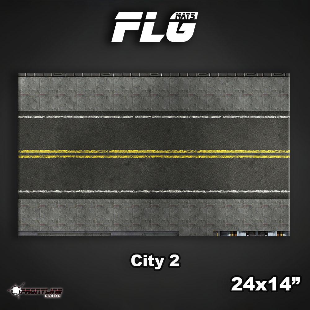 "Frontline-Gaming FLG Mats: City 2 24"" x 14"""