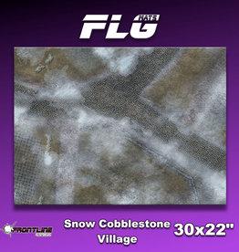 "Frontline-Gaming FLG Mats: Snow Cobblestone Village 30"" x 22"""