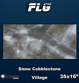 Frontline-Gaming FLG Mats: Snow Cobblestone Village Desk Mat