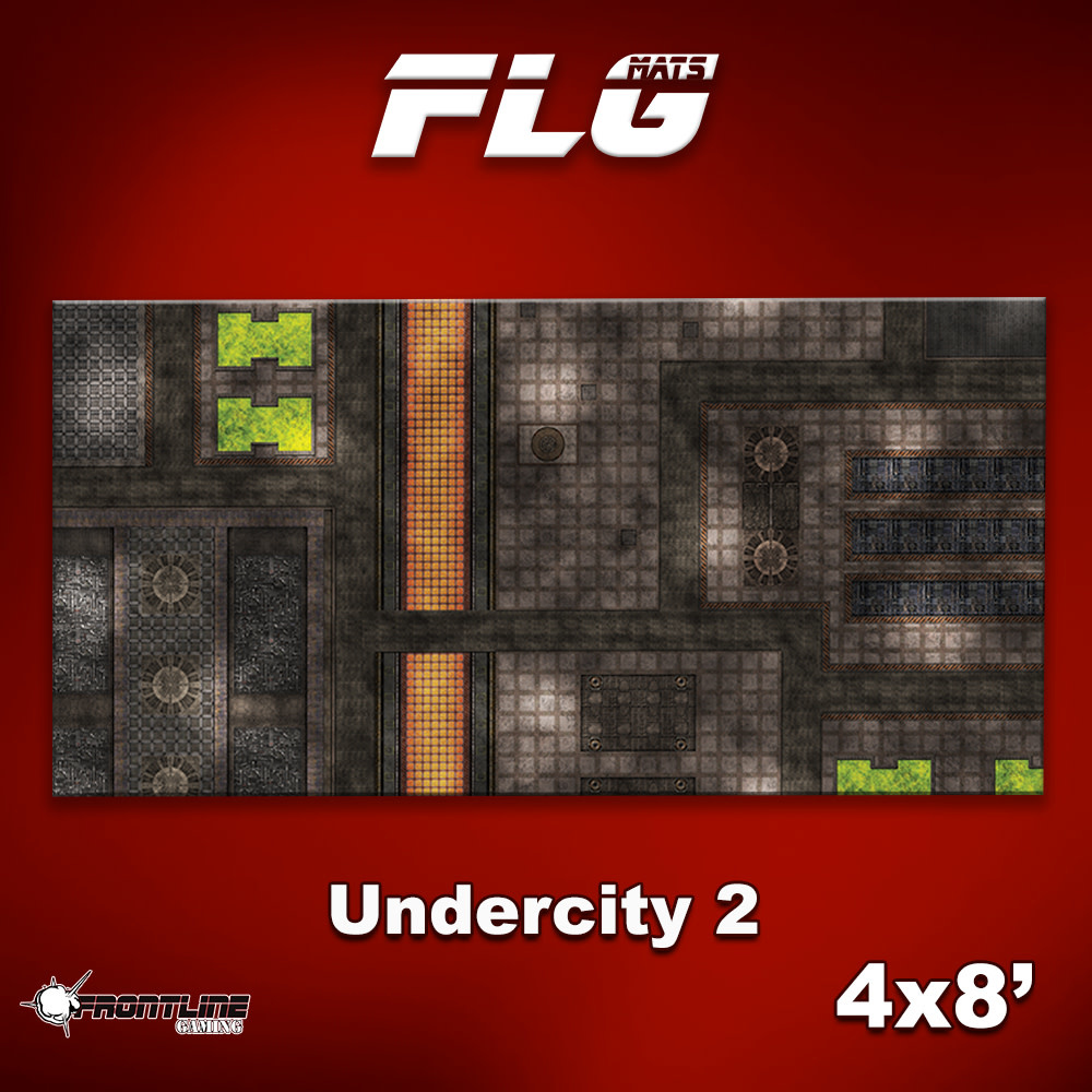 Frontline-Gaming FLG Mats: Undercity 2 4x8'