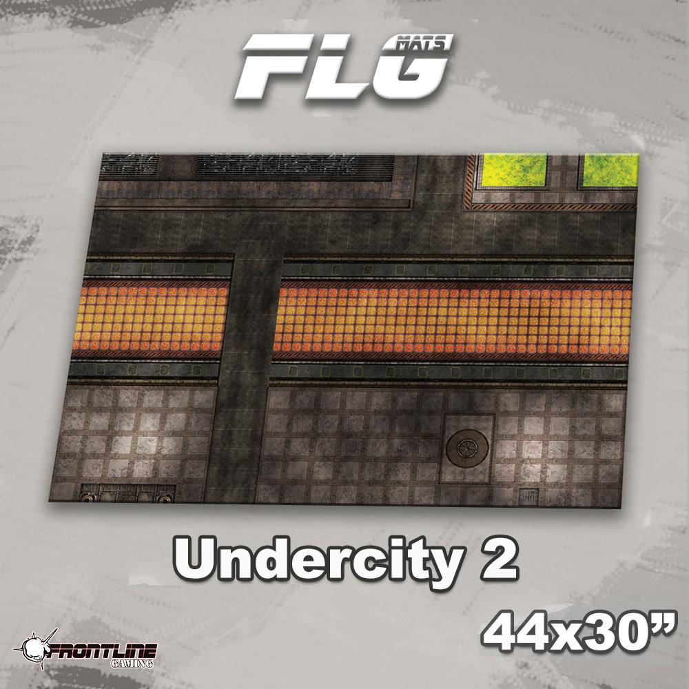 "Frontline-Gaming FLG Mats: Undercity 2 44"" x 30"""