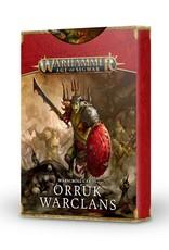 Games-Workshop Orruk Warclans Warscroll Cards