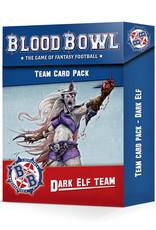 Games-Workshop Blood Bowl: Dark Elf Team Card Pack