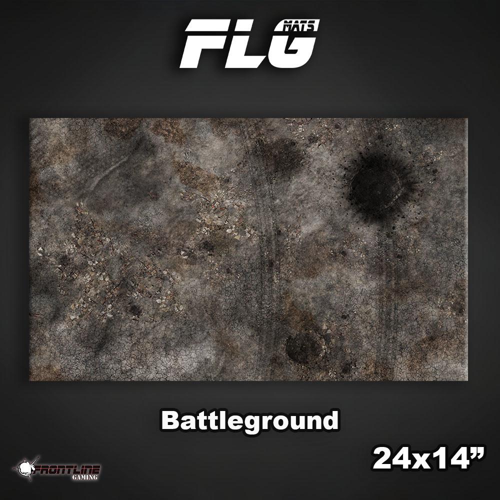 "Frontline-Gaming FLG Mats: Battleground 24"" x 14"""