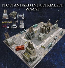 Frontline-Gaming ITC Terrain Series: ITC Standard Industrial Set With Mat