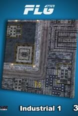 Frontline Gaming FLG Mats: Industrial 1 3x3'