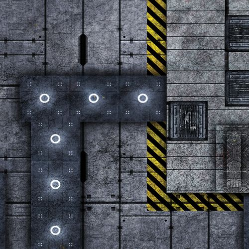 Frontline Gaming FLG Mats: Industrial 1 4x4'