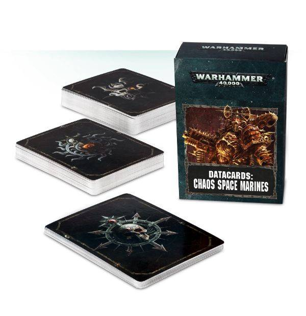 Games Workshop Datacards: Chaos Space Marines