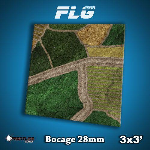 Frontline Gaming FLG Mats: 28mm Bocage 3x3'