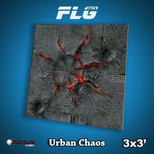 Frontline-Gaming FLG Mats: Urban Chaos 3x3'