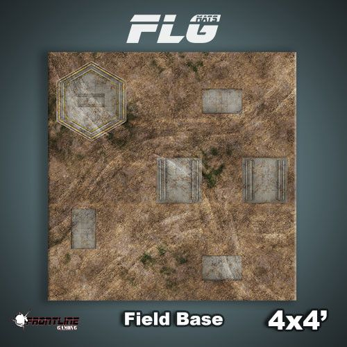 Frontline-Gaming FLG Mats: Field Base 4x4'