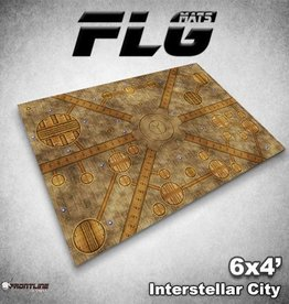 Frontline-Gaming FLG Mats: Interstellar City 6x4'