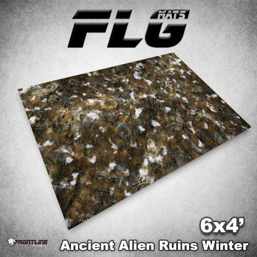 Frontline-Gaming FLG Mats: Ancient Alien Ruins Winter 6x4'