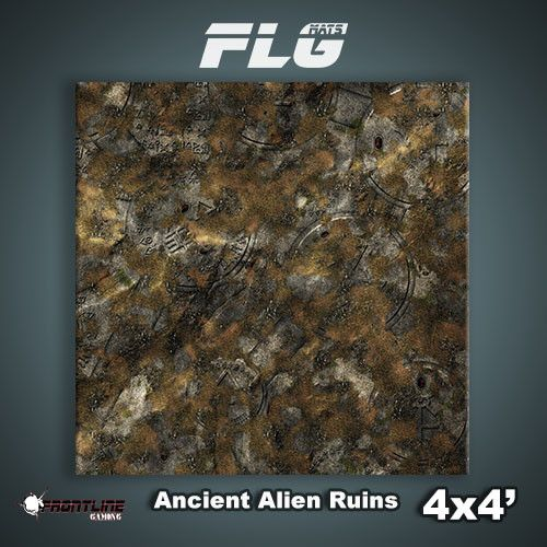 Frontline Gaming FLG Mats: Ancient Alien Ruins 4x4'